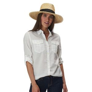 Island Company White Peruvian Cotton Safari Shirt